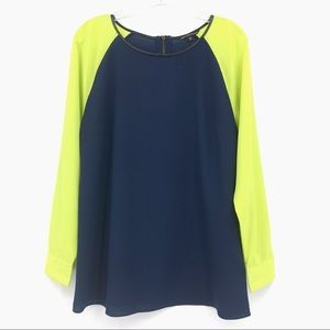 View by Walter Baker Color Block Blouse Top
